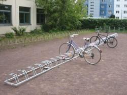Mehr Fahrradständer stehen zur Verfügung