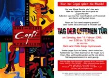 """Flyer zum """"Tag der offenen Tür"""" 2008"""