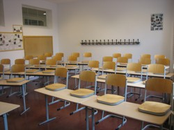 Renovierter Klassenraum