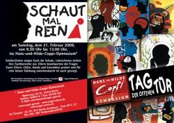 """""""Tag der offenen Tür""""-Flyer 2009"""